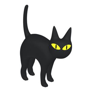 ハロウィン ミステリアスな黒猫 (1-4)のイラスト素材 [FYI04633510]