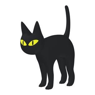 ハロウィン ミステリアスな黒猫 (1-3)のイラスト素材 [FYI04633511]