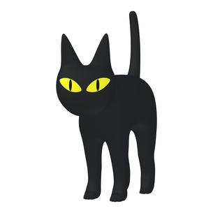 ハロウィン ミステリアスな黒猫 (1-1)のイラスト素材 [FYI04633513]