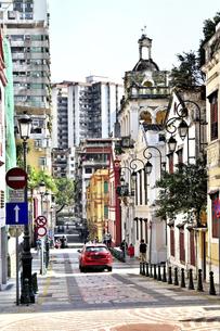 ポルトガル風の素敵な町並みの写真素材 [FYI04633843]