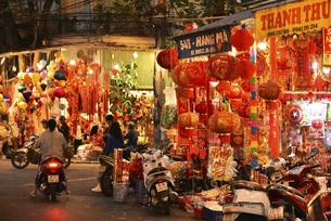 ハンマー通り年の瀬 正月飾りの買い出しの写真素材 [FYI04633864]