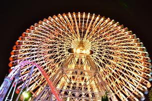 横浜みなとみらいの夜景の写真素材 [FYI04634254]
