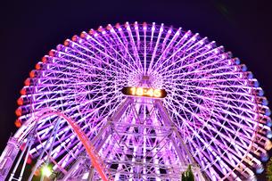 横浜みなとみらいの夜景の写真素材 [FYI04634255]