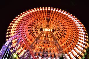 横浜みなとみらいの夜景の写真素材 [FYI04634274]