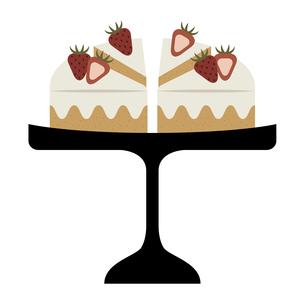 いちごのショートケーキのイラスト素材 [FYI04634371]