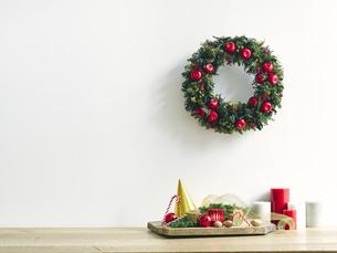 クリスマスリースの写真素材 [FYI04634372]