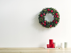 クリスマスリースの写真素材 [FYI04634388]
