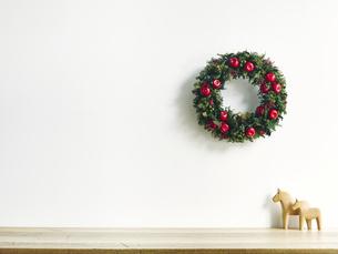 クリスマスリースの写真素材 [FYI04634390]