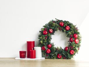クリスマスリースの写真素材 [FYI04634398]