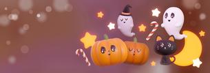 Halloween,Pumpkin,Retro,Cute,Fun,Smile,Happy ハロウィン,カボチャ, お化け のイラスト素材 [FYI04634521]
