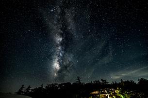 大台ヶ原の星空の写真素材 [FYI04634805]