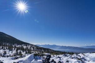 八ヶ岳 坪庭の雪景色の写真素材 [FYI04634876]