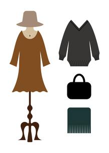 冬の洋服と服飾雑貨2のイラスト素材 [FYI04635122]