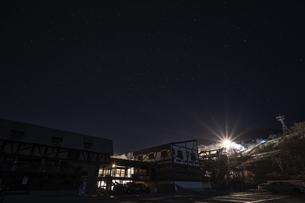 スキー場の星空の写真素材 [FYI04635313]