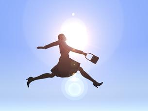ジャンプするビジネスウーマンのイラスト素材 [FYI04635487]