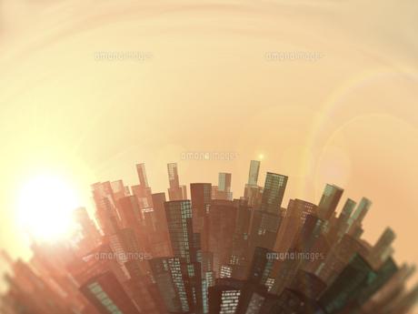 湾曲する都市空間のイラスト素材 [FYI04635509]