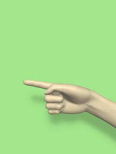 指差す右手のイラスト素材 [FYI04635533]
