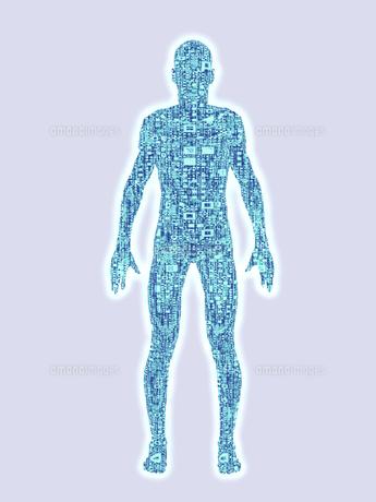 回路群で構成される身体のイラスト素材 [FYI04635572]