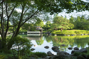 昭和記念公園の美しい日本庭園の写真素材 [FYI04635839]