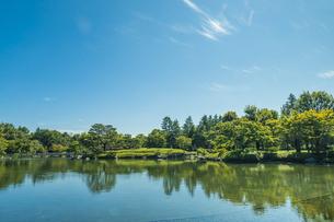昭和記念公園の美しい日本庭園の写真素材 [FYI04635844]