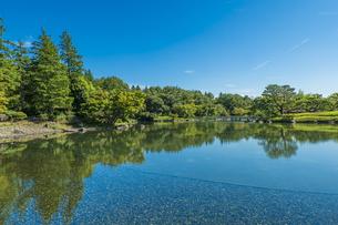 昭和記念公園の美しい日本庭園の写真素材 [FYI04635846]