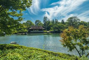 昭和記念公園の美しい日本庭園の写真素材 [FYI04635857]