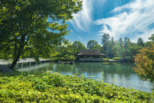 昭和記念公園の美しい日本庭園の写真素材 [FYI04635858]