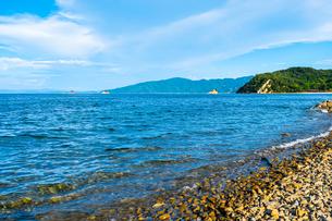 【香川県】水平線がみえる瀬戸内海の写真素材 [FYI04636170]