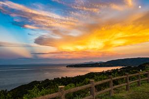 【香川県 さぬき市】大串自然公園から見る瀬戸内海の自然風景の写真素材 [FYI04636174]
