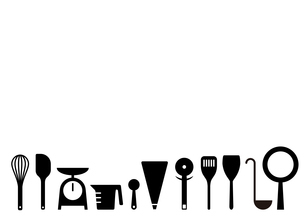 キッチンツールのフレームのイラスト素材 [FYI04639165]