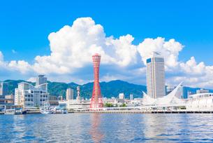 関西の風景 神戸港と街並みの写真素材 [FYI04639520]