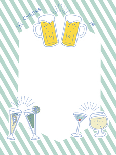 Cocktail and beer frameのイラスト素材 [FYI04639608]