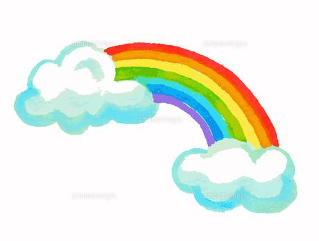 虹と雲のイラスト素材 [FYI04640104]