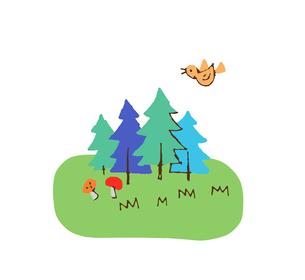 森のイラスト素材 [FYI04640106]