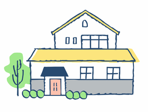 黄色い屋根の家のイラスト素材 [FYI04640147]