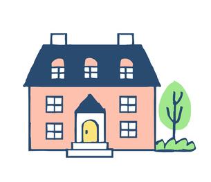 ピンクの家のイラスト素材 [FYI04640151]
