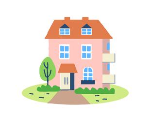 ピンクの家のイラスト素材 [FYI04640164]