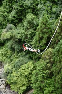 バンジージャンプをする男性の写真素材 [FYI04641361]