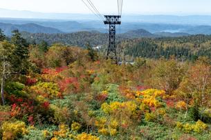 北海道 秋の大雪山旭岳の風景の写真素材 [FYI04641560]