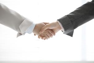 握手をする手元の写真素材 [FYI04642342]