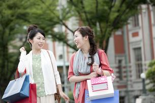 ショッピングをする女性の写真素材 [FYI04642443]