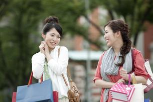 ショッピングをする女性の写真素材 [FYI04642444]