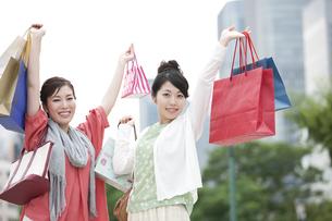 ショッピングをする女性の写真素材 [FYI04642448]