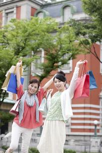 ショッピングをする女性の写真素材 [FYI04642450]