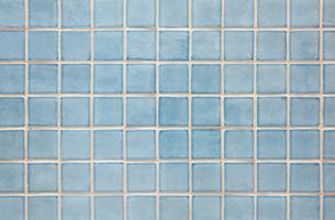 ブルーのおしゃれなタイルの写真素材 [FYI04642571]
