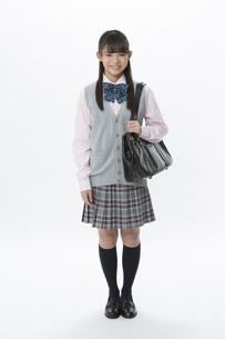 笑顔の女子校生の写真素材 [FYI04643407]
