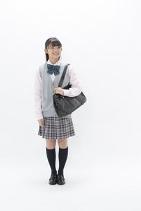 笑顔の女子校生の写真素材 [FYI04643408]