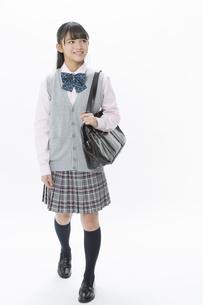 笑顔の女子校生の写真素材 [FYI04643412]
