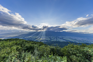 陣馬形山山頂から望む中央アルプスの写真素材 [FYI04644010]