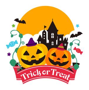 ハロウィーン・ハロウィン かぼちゃ・カボチャイラストのイラスト素材 [FYI04644433]